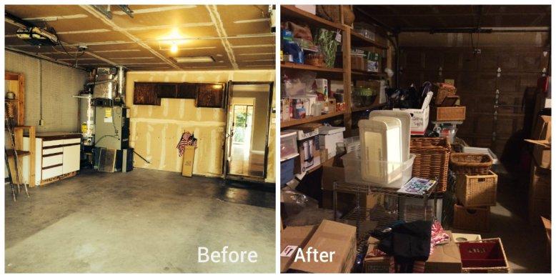 Empty garage to over flowing garage.